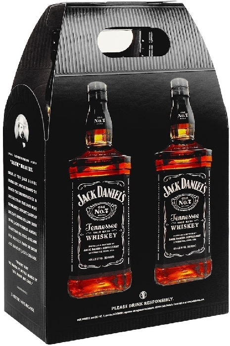 Jack Daniel's Old No. 7 Tennessee Whiskey 40% Twinpack 2x1L