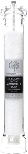 Terramezzo large acrylic mill with Sicilian stone salt 600g