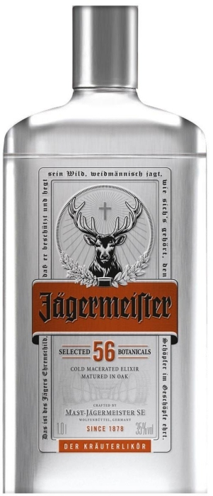 Jagermeister Silver Tin 1L