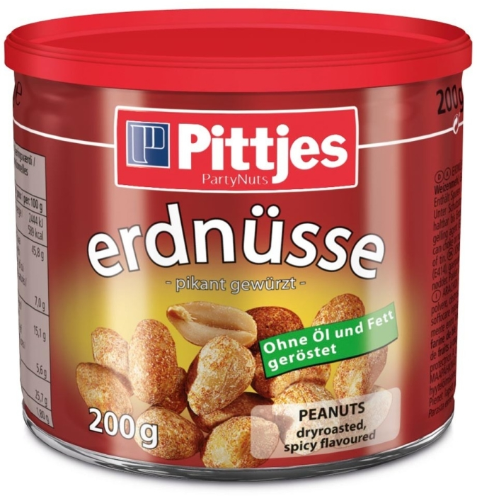 Pittjes Peanuts Roasted Tin 200g