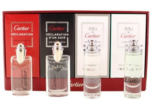 Cartier Collection For Men By Cartier Miniature Gift Set EdT 2x5ml + 2x4ml