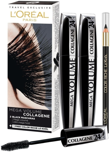 L'Oreal Paris Mega Volume Collagene Mascara Duo Set 2x9ml+1.5g