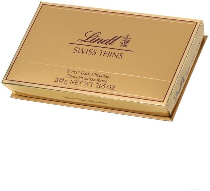 Lindt Swiss Dark Chocolate Thins 200g