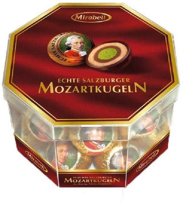 Mirabell Mozartkugeln Transparent Box 300g