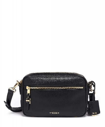 Tumi Voyageur Florence Crossbody Leather Bag, Black 0196365D