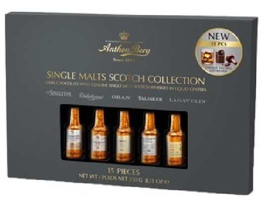 Anthon Berg Liqueur Single Malts 230g