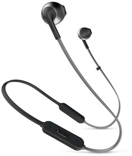 JBL TUNET205BT Earbud Bluetooth Headphones with Remote Black 16.5g