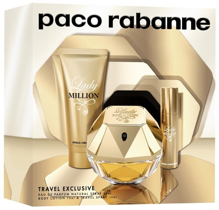 Paco Rabanne Lady Million Set EdP 80ml + 75ml + 10ml