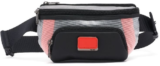 Tumi ALPHA BRAVO CAMPBELL UTILITY POUCH, Gray / Bright Red 0232310GBR8604