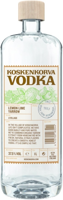 Koskenkorva Lemon Lime Yarrow 37.5% 1L