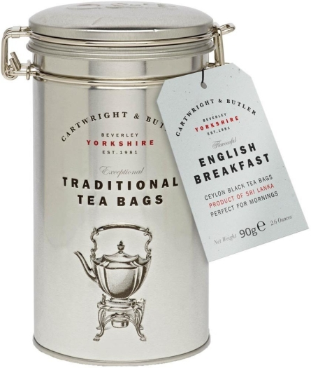 Cartwright&Butler English Breakfast Tea Bags in Caddy 90g