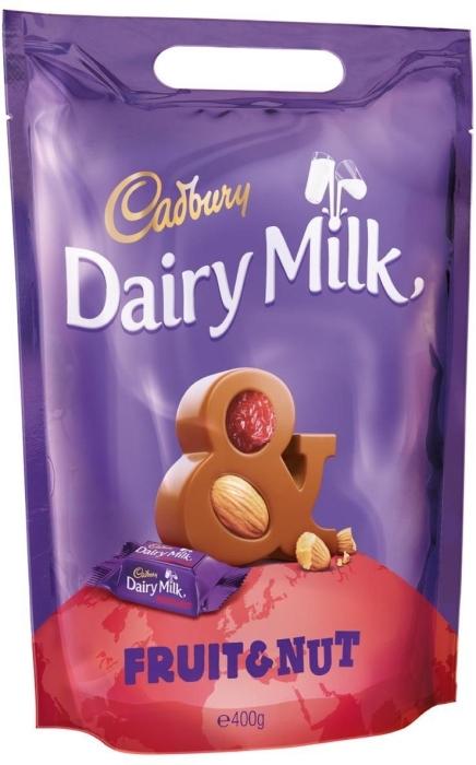 Cadbury Dairy Milk Fruit&Nut Chunks Pouch 400g