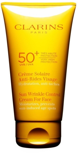Clarins Sun Wrinkle Control Cream For Face UVA/UVB 50+ 75ml