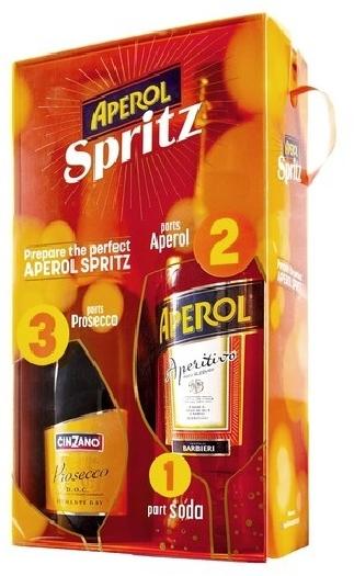 Campari Aperol Spritz and Cinzano Prosecco