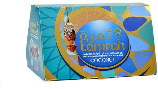 Tamrah Coconut Chocolate Covered Date With Almond 300g