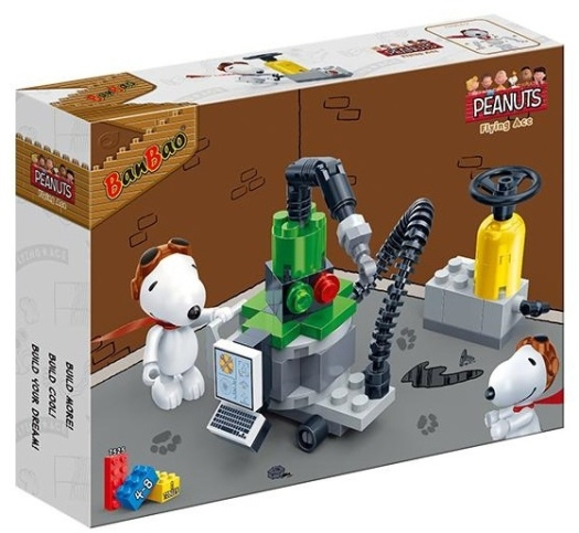Banbao Peanuts Snoopy Workshop Building Bricks
