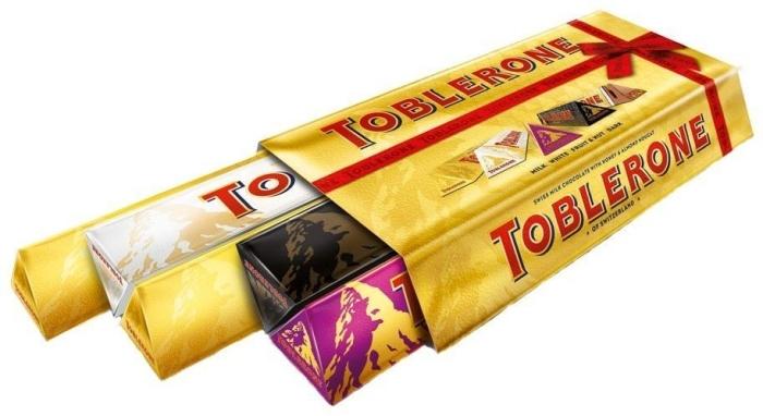 Toblerone Variety Pack 5 X 1 X Fruit 1 X Dark 1 X White 2 X Milk 100g