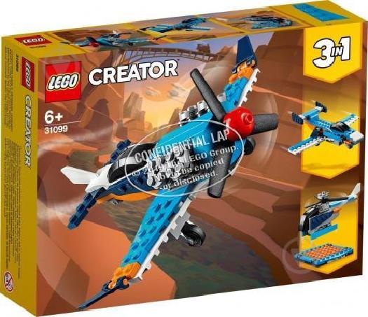 Lego Creator 3in1 Propeller Plane 31099