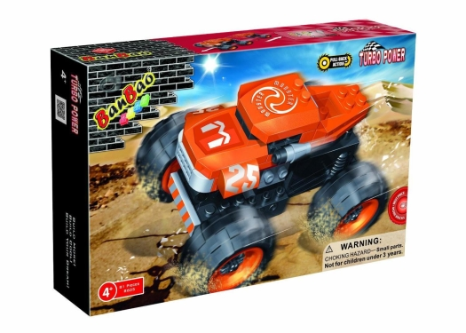 Banbao Turbo Power Car Monster Building Kit 280g