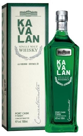 Kavalan Concertmaster Port Cask Finish Taiwanese Single Malt Whisky 40% giftpack 1L