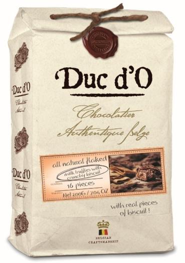 Duc d'O Truffles milk with crunchy cookies 200g