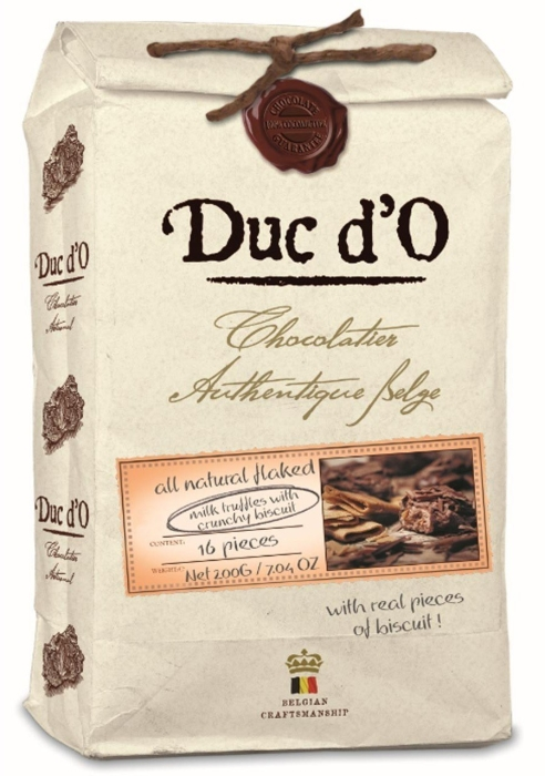 Duc d'O Truffles milk with crunchy cookies 200g