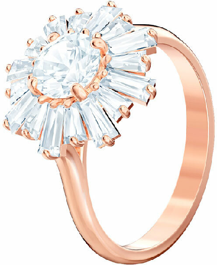 Swarovski Sunshine Ring, White, Rose Gold Plating 58