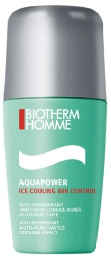 Biotherm Homme - Aquapower LA373900 DEORO Homme Ice Cooling 48H Control Roll-on Deodorant 75ML