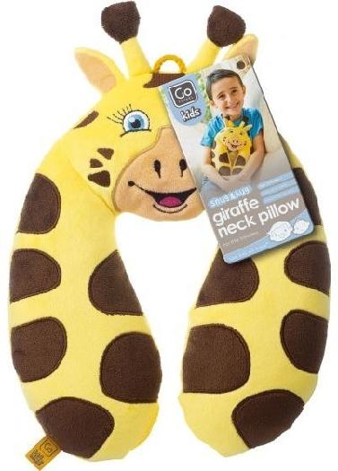 Design Go Travel Kids Pillow Neck Giraffe 2700 2700 Yellow