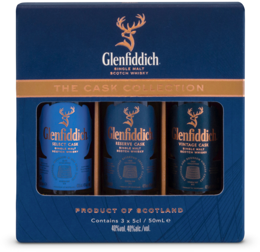 Glenfiddich Cask Collection Miniatures 40% Whiskey 3x0.05L