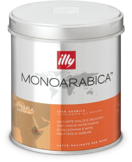 Illy Monoarabica espresso for mocha from Ethiopia 125g