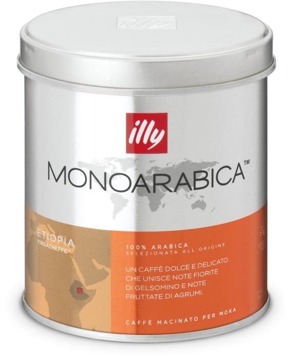 Illy Monoarabica espresso for mocha from Ethiopia 125g