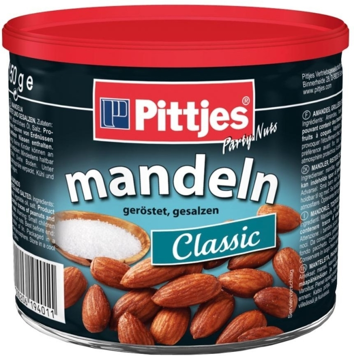 Pittjes Almonds Roasted and Salted 150g