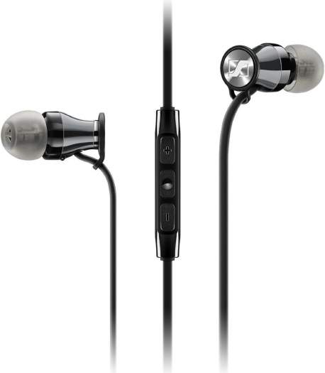 Sennheiser M2 IEi Momentum In-Ear Headphones for Apple iPhone Chrome Black 16g