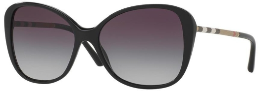 Burberry Heritage Leather Check women's sunglasses