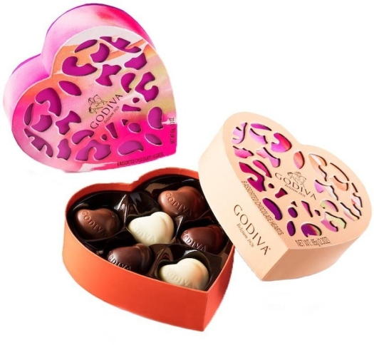 Godiva Coeur Iconique Limited Edition 2017 6 assorted chocolates 65g