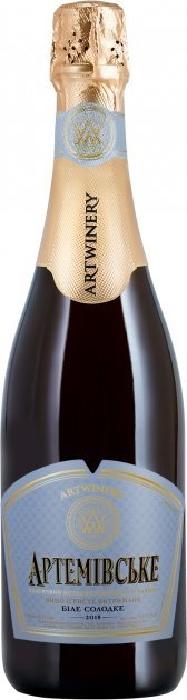 Artemivske Sparkling wine sweet white 12% (Ukraine) 0,75l