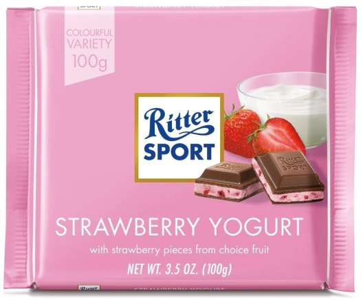 Ritter Sport Strawberry Jogurt 100g