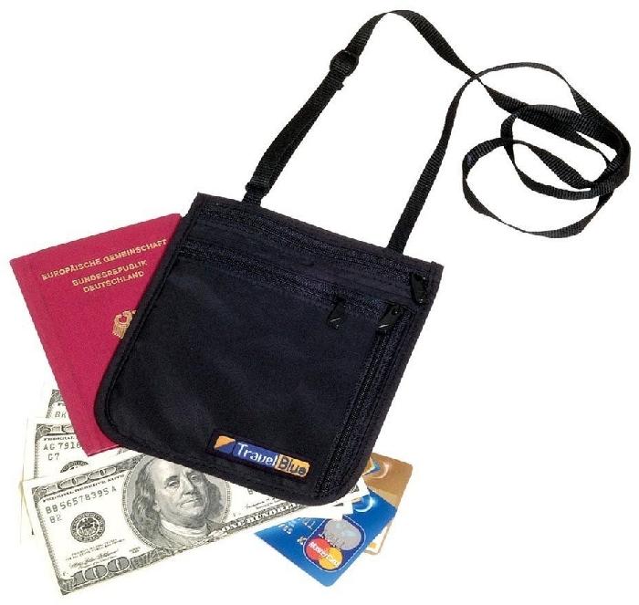 Travel Blue Money Bag