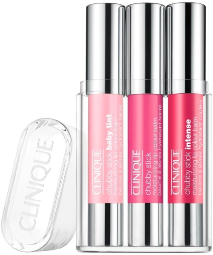 Clinique Chubby Lip Mix Lucite Lipstick Set 3x3ml