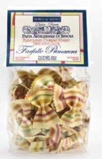 Borgo de Medici Farfallone flat colour-striped pasta 250g
