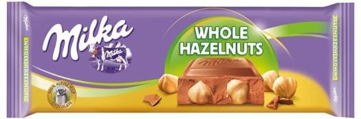 Milka Whole Hazelnuts Tablet 270g
