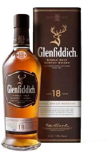 Glenfiddich 18 yo 40% Whisky, giftbox 0.7L