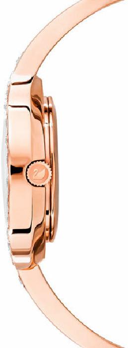 Swarovski Lovely Crystals Bangle Watch, Metal Bracelet, White, Rose Gold Tone