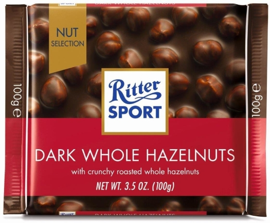 Ritter Sport Dark Whole Hazelnuts 100g