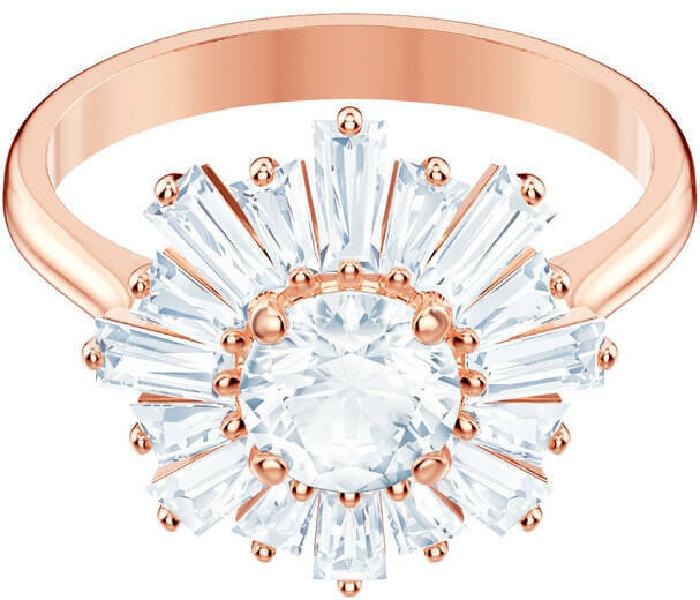 Swarovski Sunshine Ring, White, Rose Gold Plating
