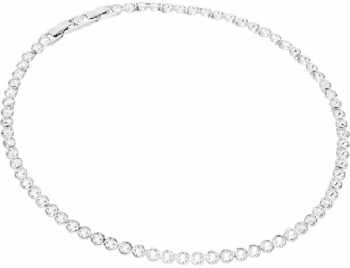 Swarovski Tennis Set, White, Rhodium Plating