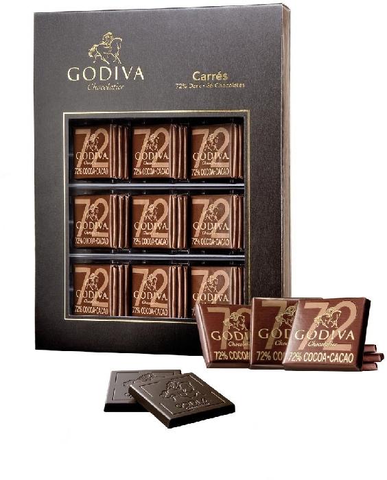 Godiva Carrés Dark 180 g