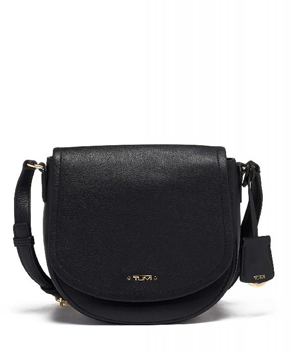 Tumi Voyageur York Crossbody Leather Bag, Black 0196366D