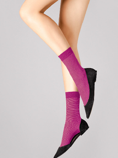 Wolford Cotton Stripes Socks 45020 9440 M